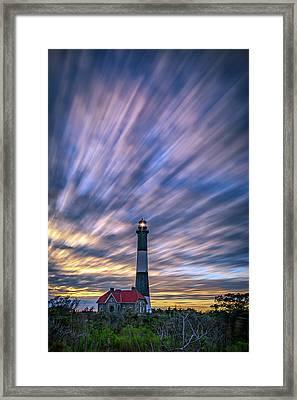Clouds Over Fire Island Framed Print by Rick Berk