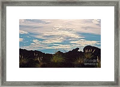 Clouds Over Mauna Kea Framed Print by Bette Phelan