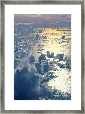Clouds Over Ocean Framed Print by Ed Robinson - Printscapes