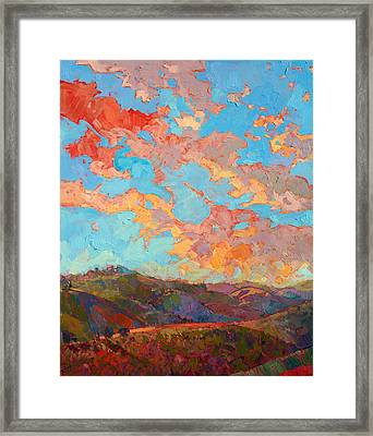 Clouds Over Paso Framed Print by Erin Hanson