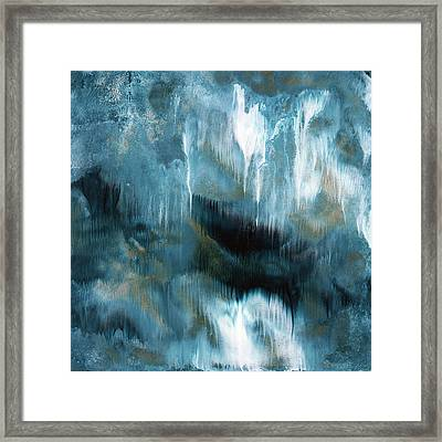 Clouds Rolling In- Abstract Art By Linda Woods Framed Print by Linda Woods