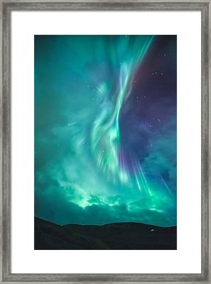 Clouds Vs Aurorae Framed Print by Tor-Ivar Naess