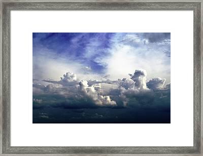 Cloudscape Fourteen Framed Print by Tom Druin