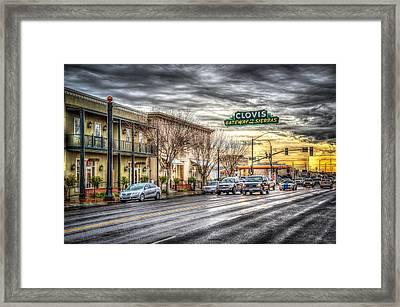Clovis California Framed Print by Spencer McDonald