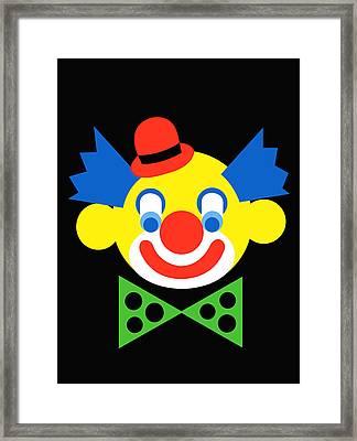 Clown Framed Print by Asbjorn Lonvig