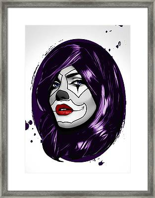Clown Girl Framed Print by Nicklas Gustafsson