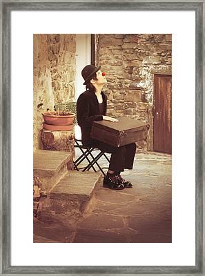 Clown Framed Print by Joana Kruse