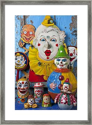 Clown Toys Framed Print by Garry Gay