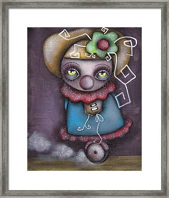 Clowning Around Framed Print by  Abril Andrade Griffith