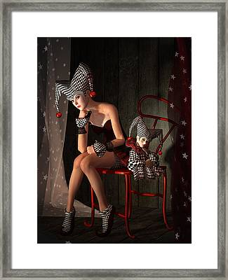 Clowns Not Joking Framed Print by Britta Glodde