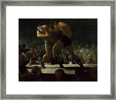 Club Night Framed Print by George Bellows