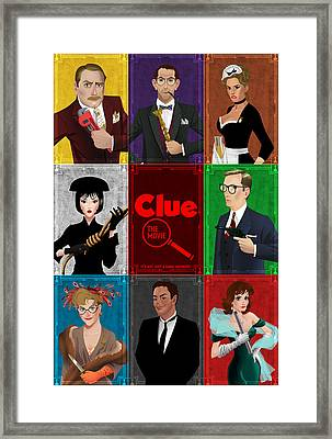 Clue Framed Print by Christopher Ables