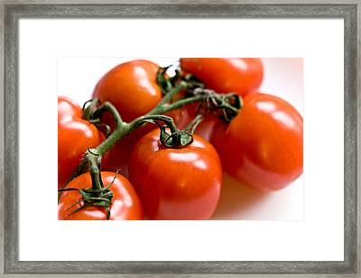 Cluster Of Tomatoes Framed Print by Hakon Soreide