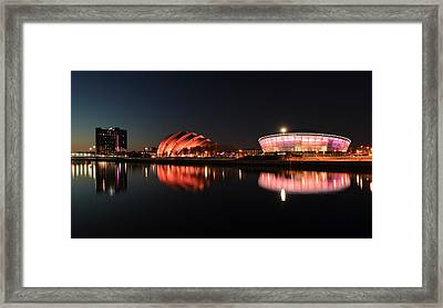 Clyde Twilight Reflections Framed Print by Grant Glendinning