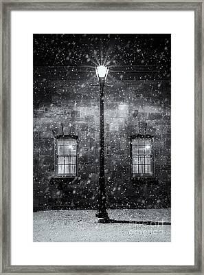 Coach House In Winter Framed Print by Trevor Chapman