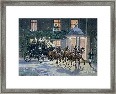 Coaching At Hurlingham Framed Print by Ninetta Butterworth