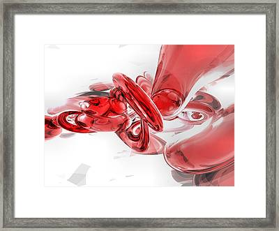 Coagulation Abstract Framed Print by Alexander Butler