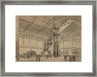 Coal Mine Hoist Framed Print by Percy Hale Lund