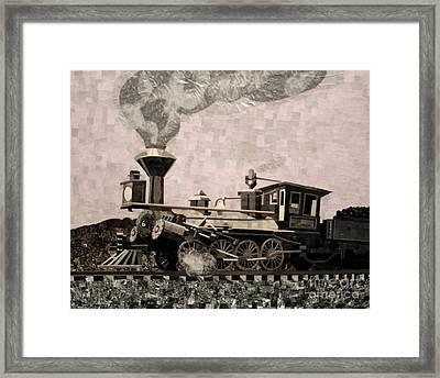 Coal Train To Kalamazoo Framed Print by Kerri Ertman