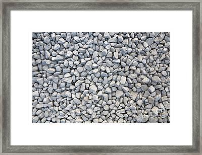 Coarse Gravel - Stone Texture Framed Print by Michal Boubin