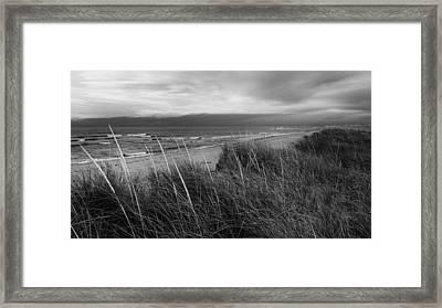 Coast Guard Beach Cape Cod Bw Framed Print by Bill Wakeley