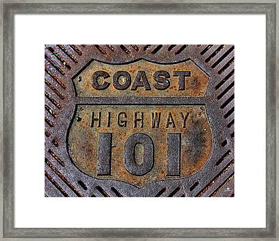 Coast Highway 101 Framed Print by Russ Harris