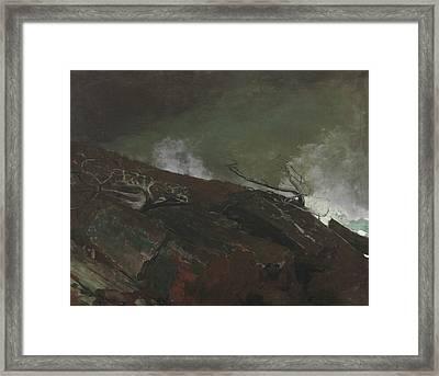 Coast Of Maine Framed Print by Winslow Homer