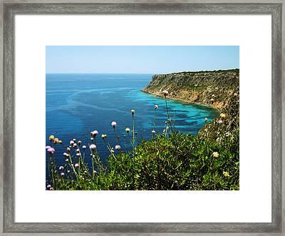 Coast Framed Print by Oliver Johnston