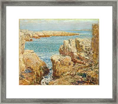 Coast Scene Framed Print by Childe Hassam