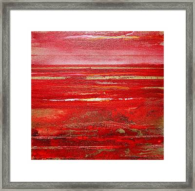 Coast Series Red Am8 Framed Print by Mike   Bell