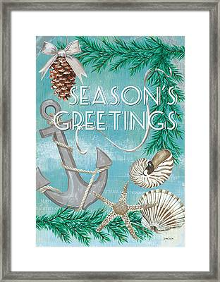 Coastal Christmas Card Framed Print by Debbie DeWitt