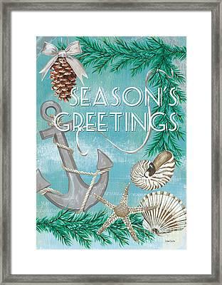 Coastal Christmas Card Framed Print by Debbie DeWitt