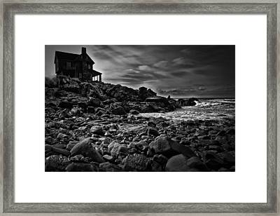 Coastal Home  Kennebunkport Maine Framed Print by Bob Orsillo