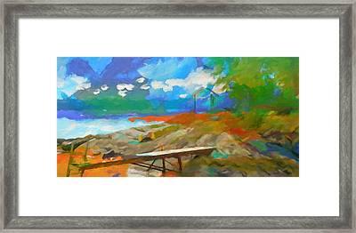 Coastal Panoramic Abstraction Framed Print by Lutz Baar
