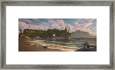 Coastal Paradise Framed Print by Mary Almond
