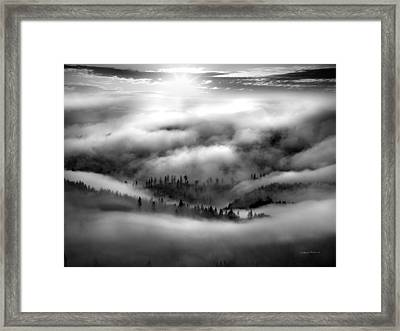 Coastal Range Bw Framed Print by Leland D Howard