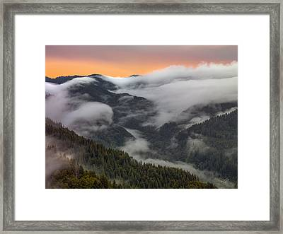 Coastal Range Color And Light Framed Print by Leland D Howard