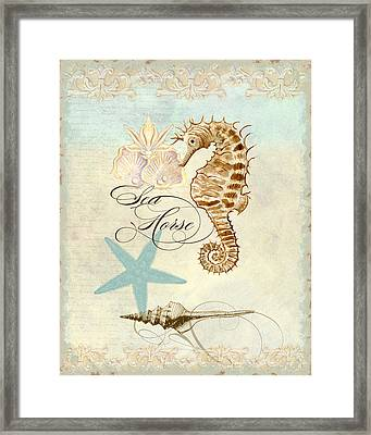 Coastal Waterways - Seahorse Rectangle 2 Framed Print by Audrey Jeanne Roberts