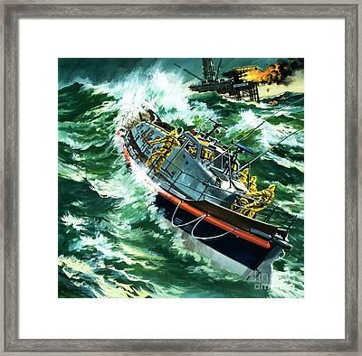 Coastguard Lifeboat Framed Print by Wilf Hardy