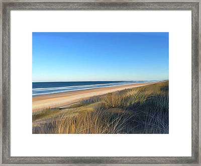 Coastline Sun And Shade Framed Print by Anthony Fishburne