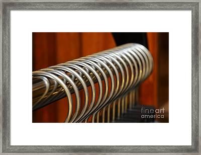 Coat Hangers 067 Framed Print by Ken DePue