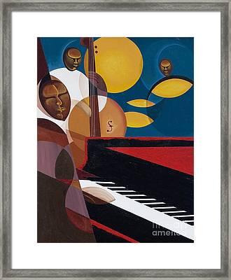 Cobalt Jazz Framed Print by Kaaria Mucherera