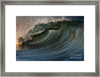Cobalt Wave Framed Print by Stelios Kleanthous