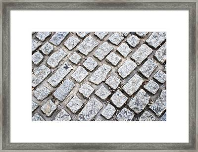 Cobbled Road Framed Print by Tom Gowanlock