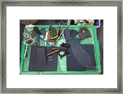 Cobblers Tools Framed Print by Don Mason
