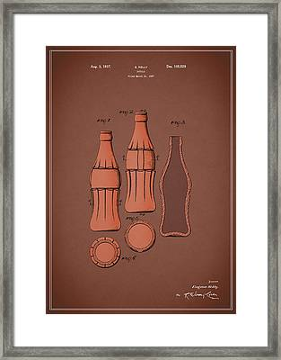 Coca Cola Bottle Patent 1937 Framed Print by Mark Rogan