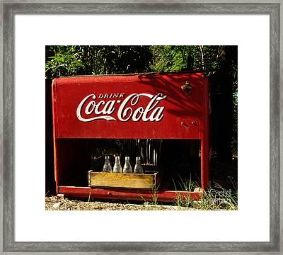 Coca-cola Framed Print by Carol Milisen