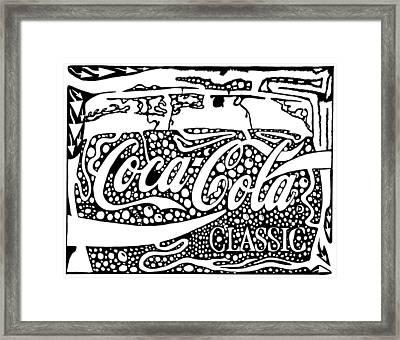 Coca-cola Maze Advertisement  Framed Print by Yonatan Frimer Maze Artist