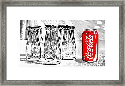 Coca-cola Ready To Drink By Kaye Menner Framed Print by Kaye Menner
