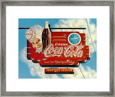 Coca Cola Framed Print by Van Cordle